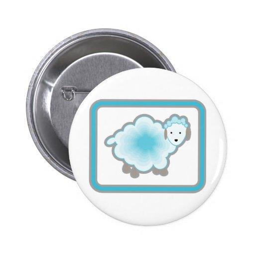 1  blue sheep 2 inch round button