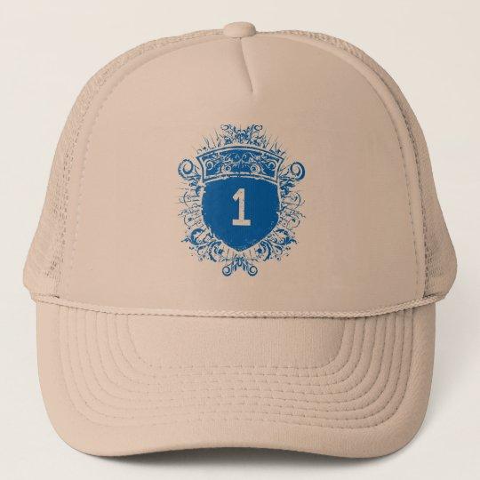 #1 Blue Shield Trucker Hat