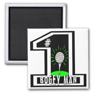 #1 Bogey Man 2 Inch Square Magnet