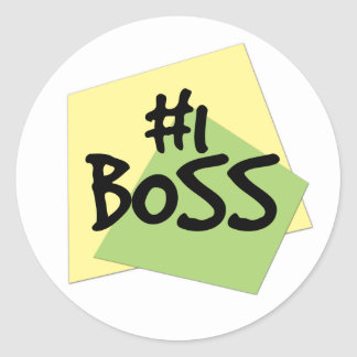 #1 Boss Classic Round Sticker