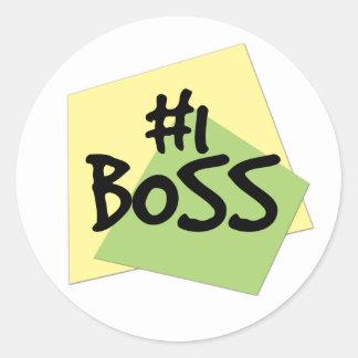 #1 Boss Classic Round Sticker
