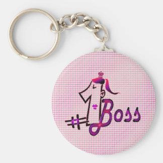 #1 boss keychain