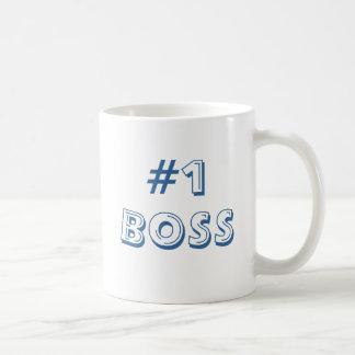 #1 BOSS CLASSIC WHITE COFFEE MUG