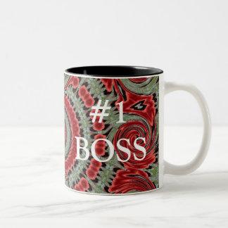 #1 Boss Two-Tone Coffee Mug