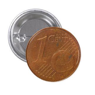 1 botón de la moneda del centavo euro pin