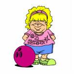 #1 Bowler Bowling Girl Cartoon Cut Out