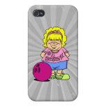#1 Bowler Bowling Girl Cartoon iPhone 4/4S Covers