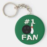 #1 Bowling Fan Keychain