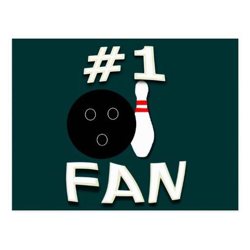 #1 Bowling Fan Postcard