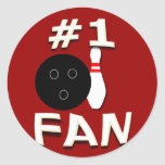#1 Bowling Fan Stickers