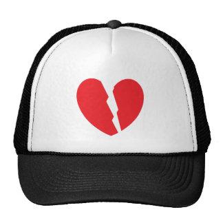 1 broken heart 2 pieces mesh hat