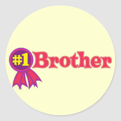 Round Sticker with #1 Brother Award design