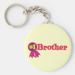 Basic Button Keychain with #1 Brother Award design