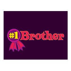 Postcard with #1 Brother Award design