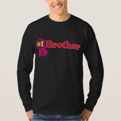 Men's Basic Long Sleeve T-Shirt with #1 Brother Award design