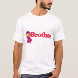 Men's Basic T-Shirt with #1 Brother Award design