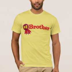Men's Basic American Apparel T-Shirt with #1 Brother Award design
