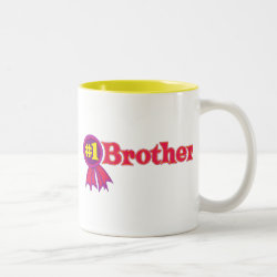 #1 Brother Award Two-Tone Mug