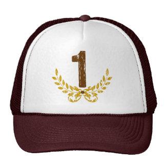 #1 Brown & Gold Wreath Trucker Hat