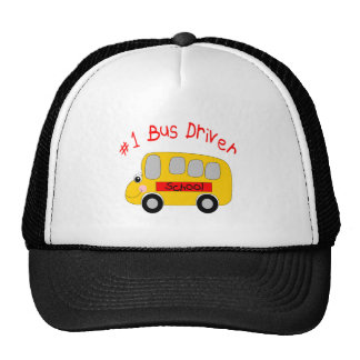 #1 Bus Driver Trucker Hat