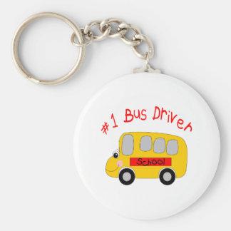 #1 Bus Driver Basic Round Button Keychain