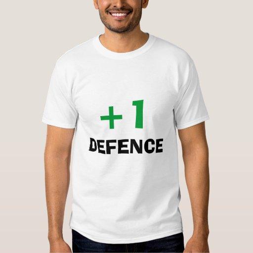 +1 camisa de la defensa