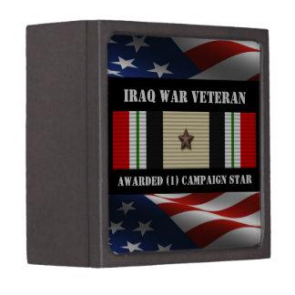 1 CAMPAIGN STAR IRAQ WAR VETERAN PREMIUM JEWELRY BOXES