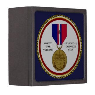 1 CAMPAIGN STAR KOSOVO WAR VETERAN PREMIUM KEEPSAKE BOX