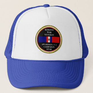 1 CAMPAIGN STAR KOSOVO WAR VETERAN TRUCKER HAT