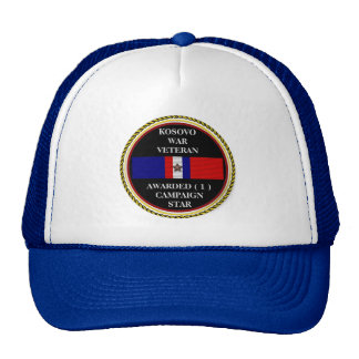 1 CAMPAIGN STAR KOSOVO WAR VETERAN TRUCKER HAT