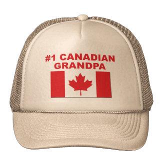 #1 Canadian Grandpa Trucker Hat