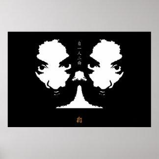 1 cara del hombre 2 posters