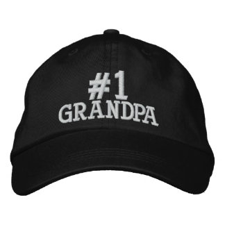 #1 casquillo bordado abuelo del número uno gorra bordada