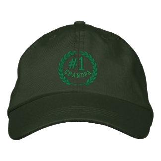 #1 casquillo bordado abuelo del número uno gorras bordadas
