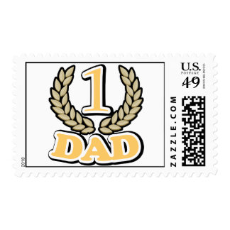 #1 CHAMPION Dad postage stamps