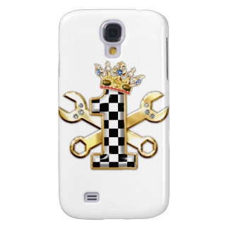 1 checkered flag number galaxy s4 cover