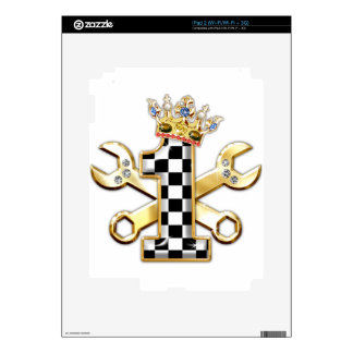 1 checkered flag number skins for iPad 2
