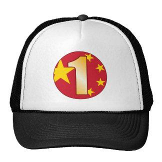 1 CHINA Gold Trucker Hat