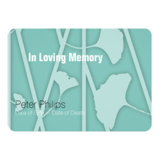 1 Choose Your Background Color Memorial Service Card