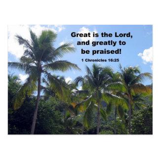 1 Chronicles 16:25 Postcard