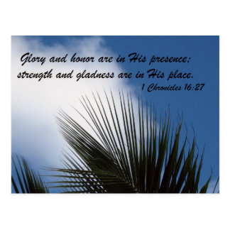 1 Chronicles 16:27 Postcard