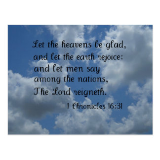 1 Chronicles 16:31 Postcard
