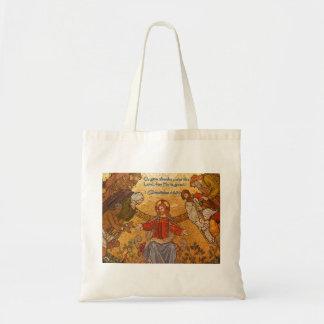 1 Chronicles 16:34 Jesus Mosaic Tote Bag