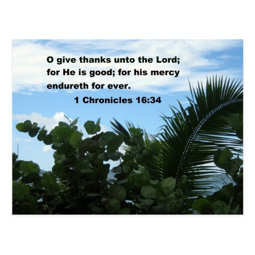 1 Chronicles 16:34 Post Cards