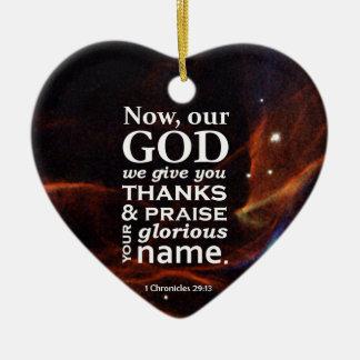 1 Chronicles 29:13 Ceramic Ornament