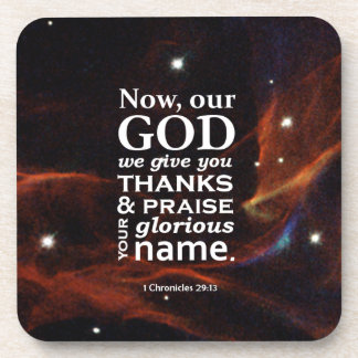 1 Chronicles 29:13 Drink Coaster