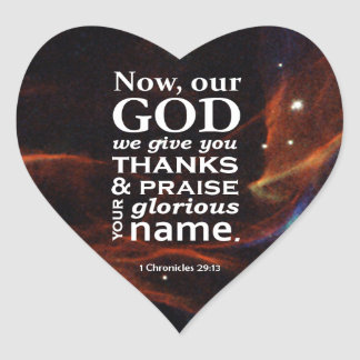 1 Chronicles 29:13 Heart Stickers
