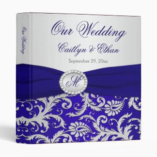 """1"""" CINTA IMPRESA azul, carpeta de la bodas de"""