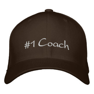 #1 Coach Embroidered Baseball Hat