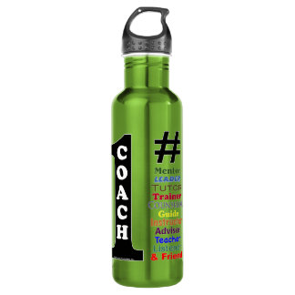 #1 Coach Liberty Stainless Steel Water Bottle